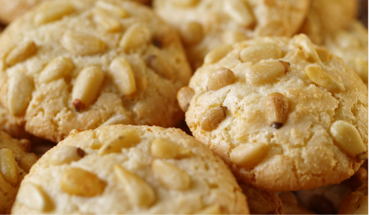 plate of almond cookies